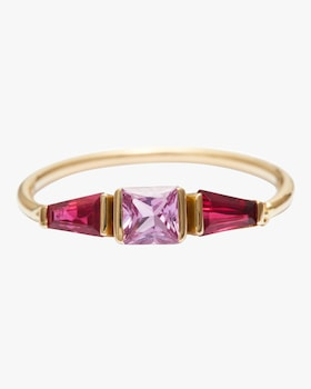 Pink Sapphire And Ruby Lacroix Ring