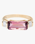 Yi Collection Pink Tourmaline And Diamond East West Ring 0