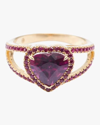 Yi Collection Rhodolite And Ruby Heart Ring 1