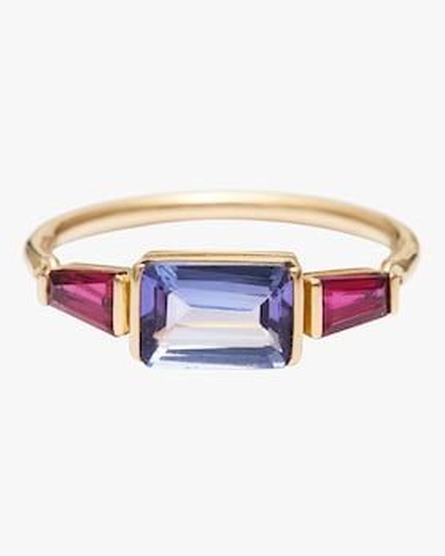 Tanzanite And Ruby Ring