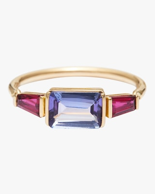 Yi Collection Tanzanite And Ruby Ring 1