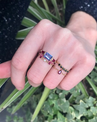 Yi Collection Tanzanite And Ruby Ring 2