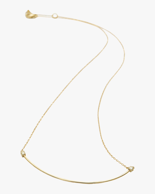 Canary Yellow Diamond Bar Necklace