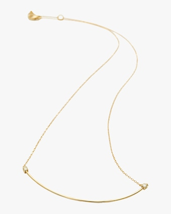 Yi Collection Canary Yellow Diamond Bar Necklace 2