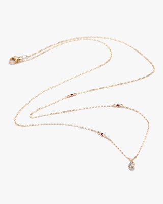 Yi Collection Diamond And Ruby Necklace 1