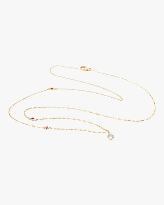 Yi Collection Diamond And Ruby Necklace 0
