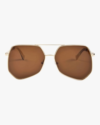 Megalast Hexagon Aviator Sunglasses