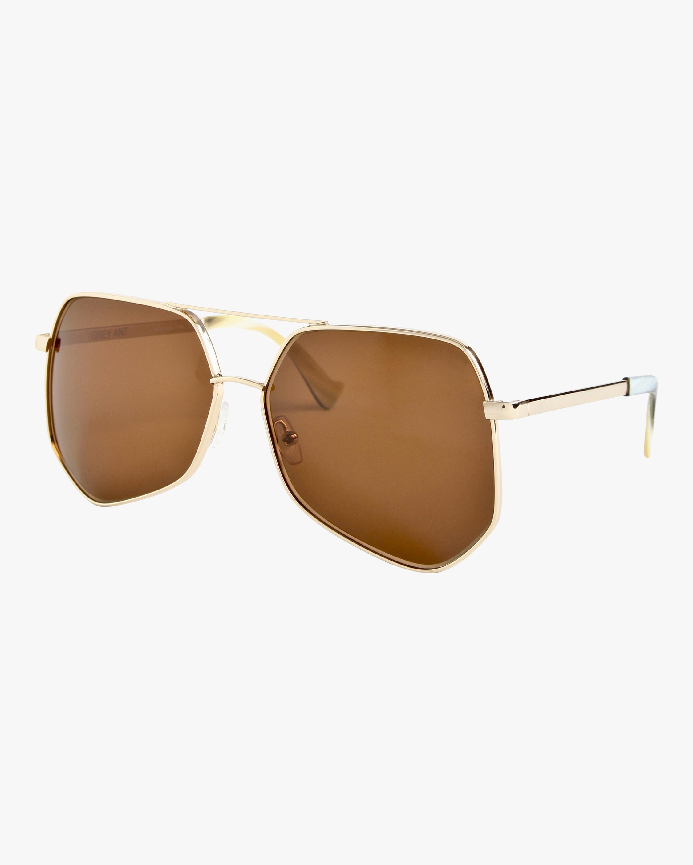 Megalast Hexagon Aviator Sunglasses Grey Ant