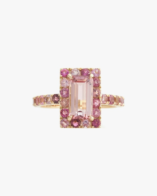 Yi Collection Tourmaline Bubble Gum Deco Ring 0