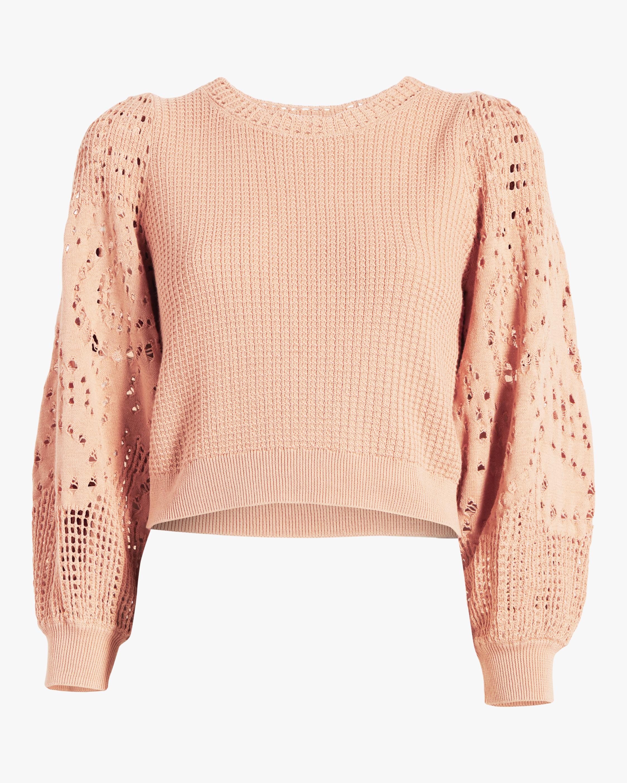 A.L.C. Sandra Crochet Top 0