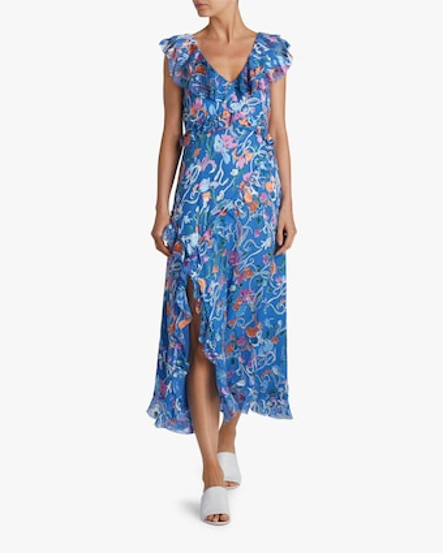 Arielle Ruffled Midi Dress