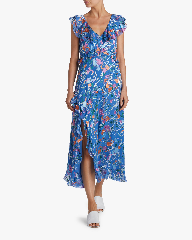Tanya Taylor Arielle Ruffled Midi Dress 1