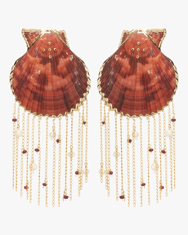 Mercedes Salazar Shell Fringe Earrings 0