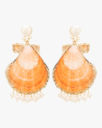 Shell Fringe Earrings
