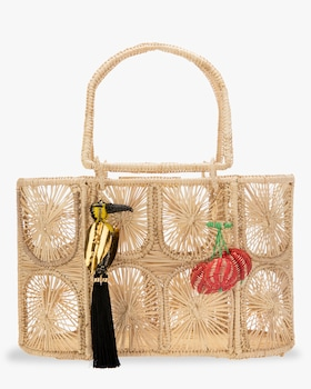 Woven Parrot Handbag