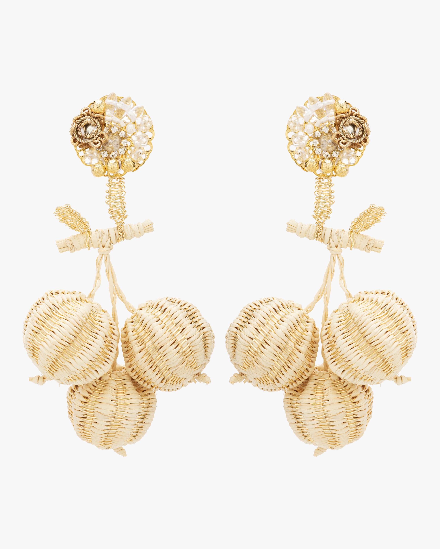 Woven Cherry Earrings