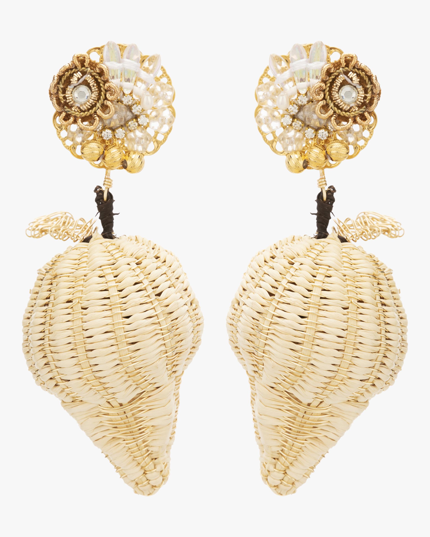 Woven Strawberry Earrings