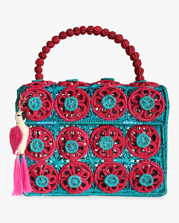 Mercedes Salazar Amanecer Woven Parrot Handbag 2