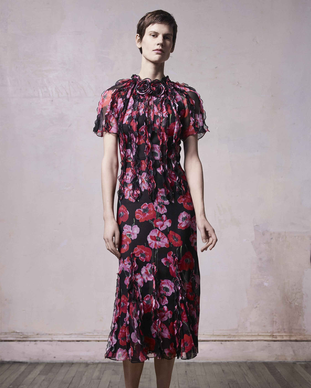Poppy Crinkled Chiffon Day Dress
