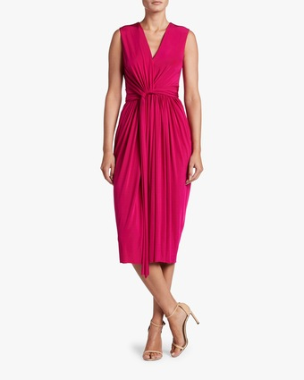 Fluid Evening Jersey Day Dress