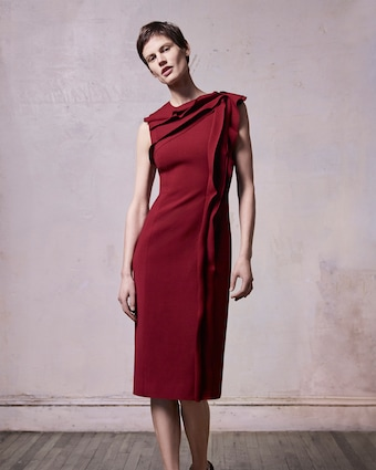 Stretch Wool Day Dress