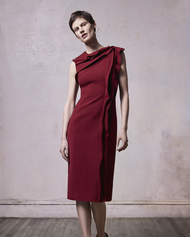 Stretch Wool Day Dress