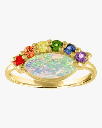 Rainbow Eye Pinkie Ring
