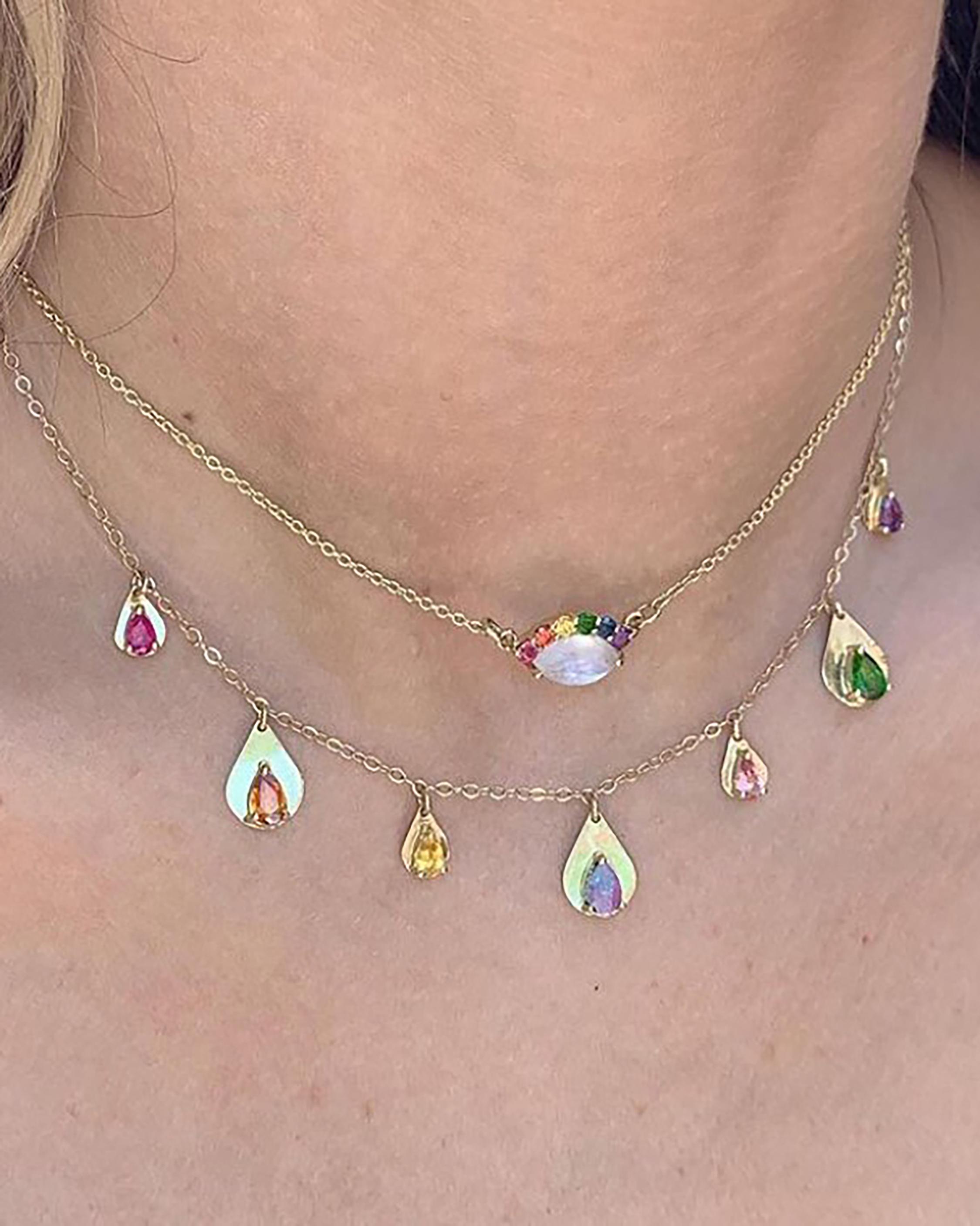 Eden Presley Teardrop Stone Necklace 2