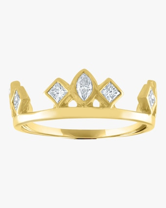 Marquise Square Bezel Crown Ring