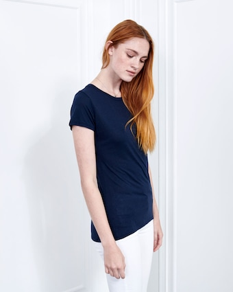 Cashmere Collection Crew Neck Tee