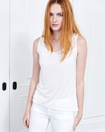 Fite Luxury Tees Cashmere Collection Scoop Neck Tank 0