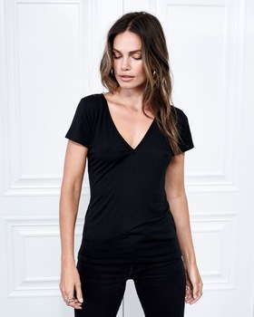 Cashmere Collection V-Neck Tee
