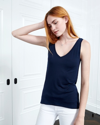 Cashmere Collection V-Neck Tank