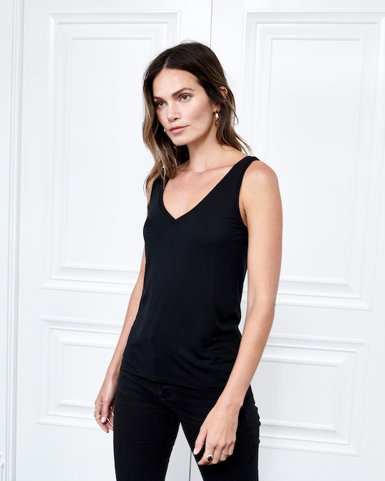 Fite Luxury Tees Cashmere Collection V-Neck Tank 0