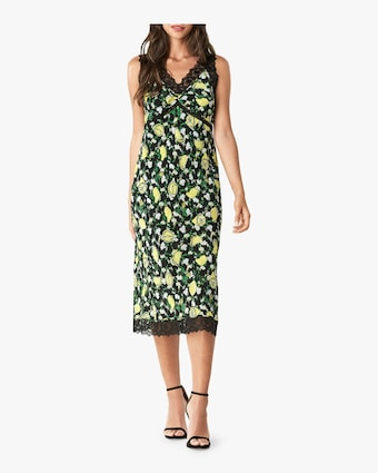 Issey Lace Trim Midi Dress