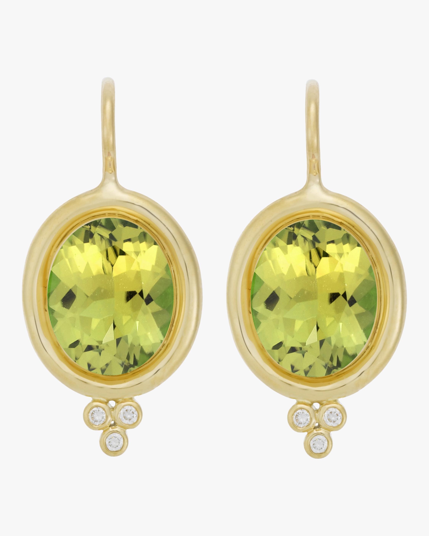 Classic Oval Peridot Earrings