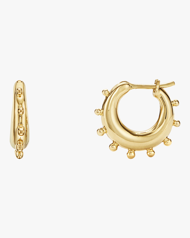 Small Granulated Hoop Earrings