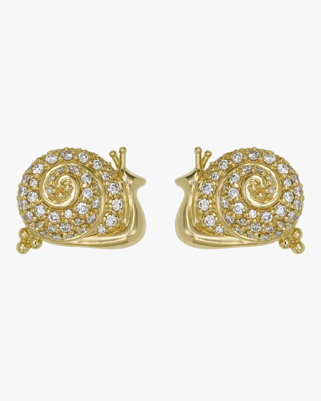 Diamond Snail Earrings