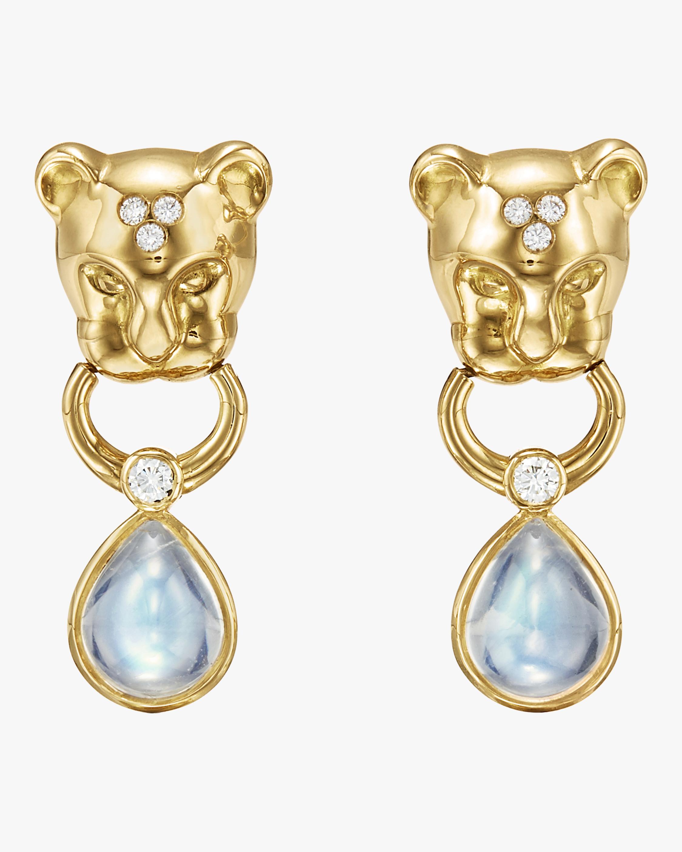 Lion Cub Drop Earrings