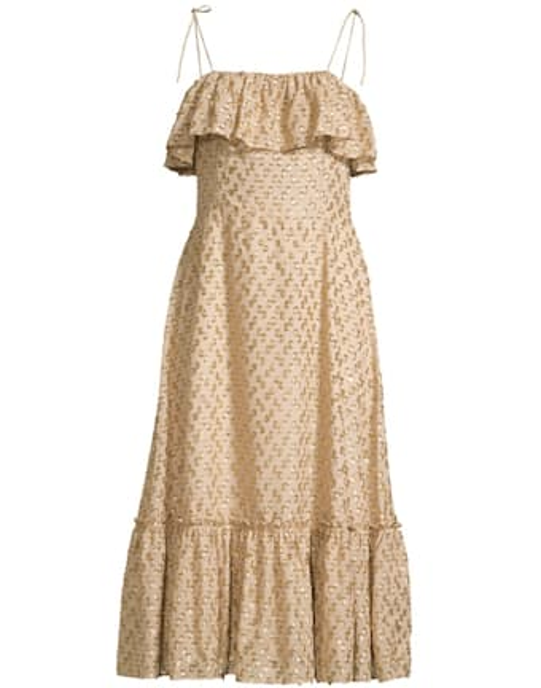 Elise Ruffle Midi Dress