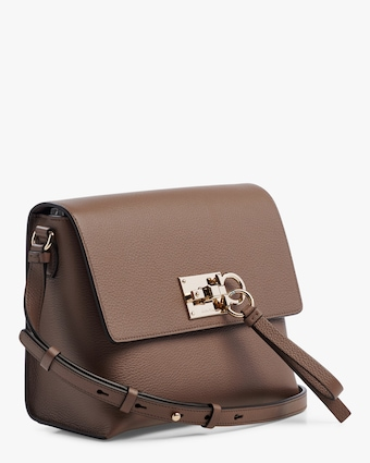 The Studio Flap Grainy Leather Shoulder Bag