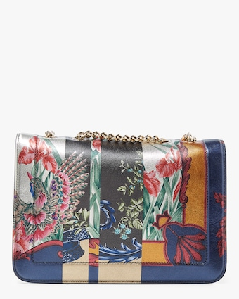 Vara Rainbow Print Shoulder Bag