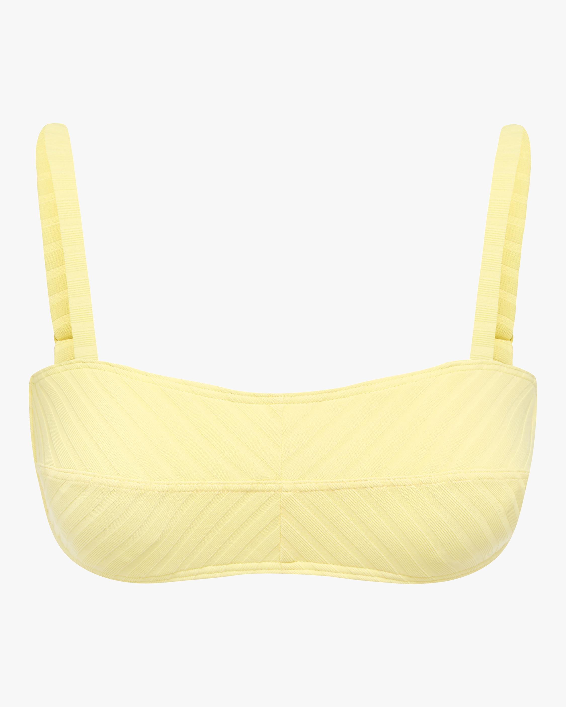 Banana Piped Crop Bikini Top