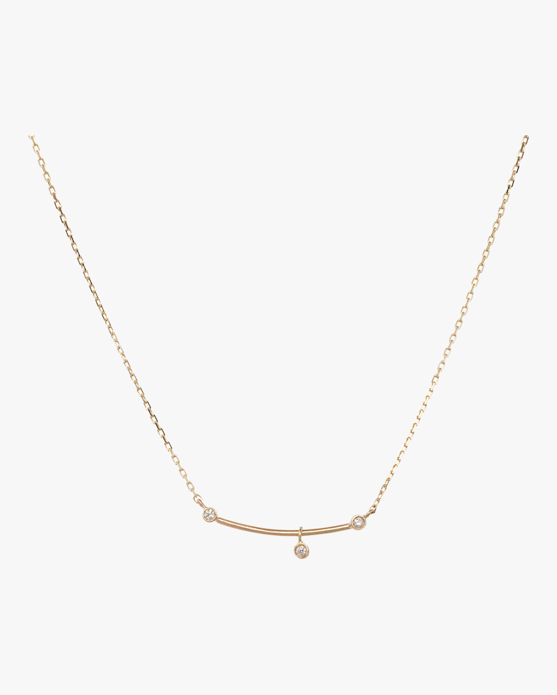Diamond Bar Pendulum Necklace