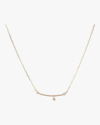 Diamond Bar Pendulum Necklace