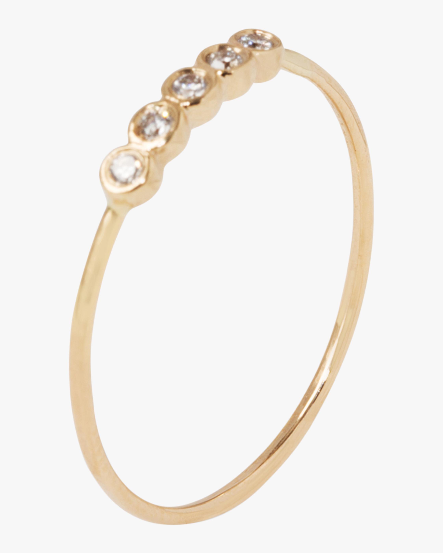 Five Diamond Orbit Ring