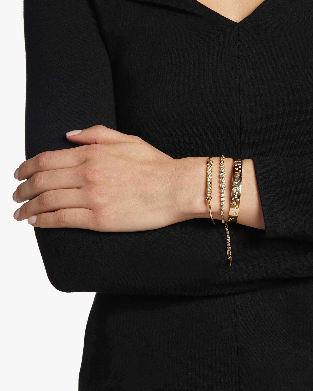 Jemma Wynne Diamond Bar Closed Bangle Bracelet 2