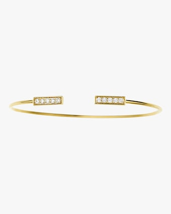 Jemma Wynne Diamond Bar Open Bangle Bracelet 2