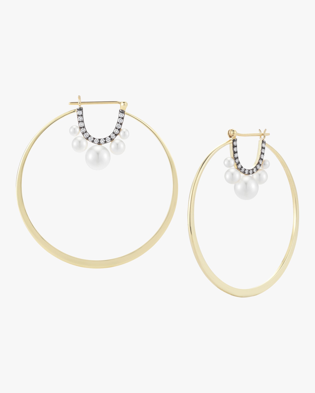 Prive Pearl Large Hoop Earrings