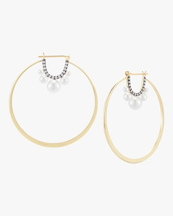 Jemma Wynne Prive Pearl Large Hoop Earrings 1